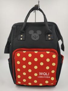 Сумка-рюкзак для мамы Disney m259 черно-красная
