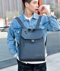 Рюкзак школьный Celvin Kloin Jeans 6916 серый фото на модели 3