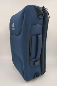бизнес рюкзак ozuko 9225 синий вид спереди фото вполоборота