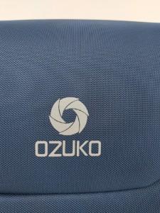 Бизнес рюкзак для мужчин OZUKO 9225 синий лого крупным планом