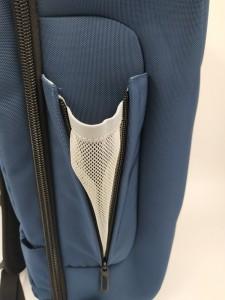 Бизнес рюкзак для мужчин OZUKO 9225 синий боковой карман крупным планом