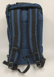 Бизнес рюкзак для мужчин OZUKO 9225 синий с пристегнутыми лямками