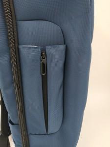 Бизнес рюкзак для мужчин OZUKO 9225 синий фото бокового кармана