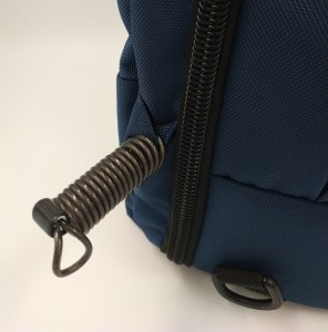 Бизнес рюкзак для мужчин OZUKO 9225 синий фото металлического тросика
