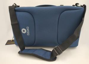 Бизнес рюкзак для мужчин OZUKO 9225 синий фото с пристегнутым ремнем