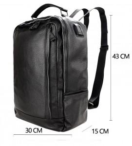 Рюкзак мужской кожаный J.M.D. черный 8834 схема с размерами